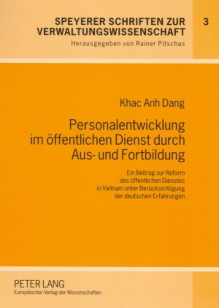 Personalentwicklung im öffentlichen Dienst durch Aus- und Fortbildung, Khac ...