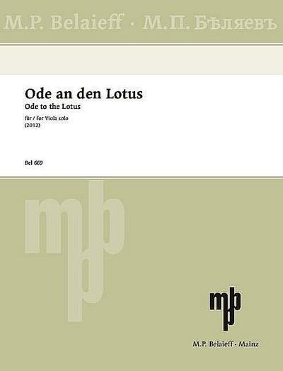 Ode an den Lotus für Viola