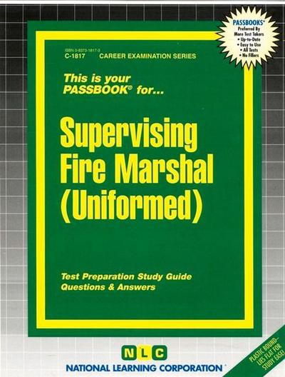 Supervising Fire Marshal (Uniformed) - Natl Learning Corp - Plastikspiralbindung, , National Learning Corporation, ,