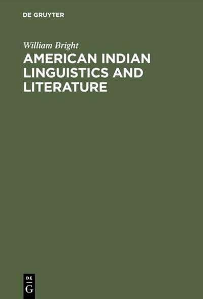 American Indian Linguistics and Literature