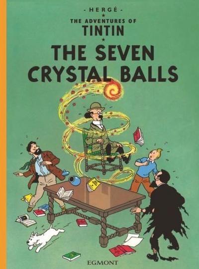The Adventures of Tintin - The Seven Crystal Balls. Die sieben Kristallkugeln, englische Ausgabe