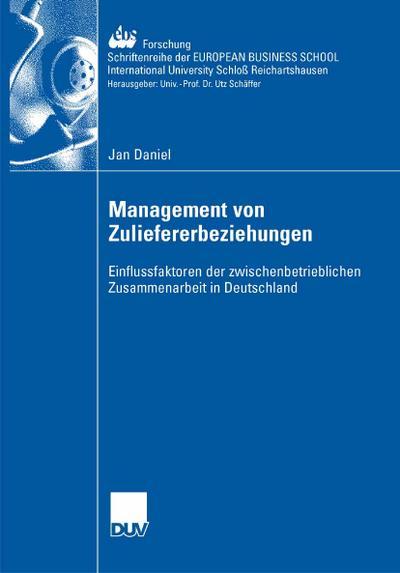 Management der Zuliefererbeziehungen