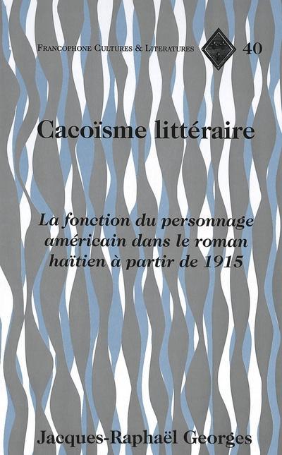 Cacoïsme littéraire