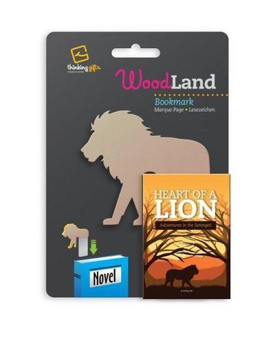 Woodland Lesezeichen Lion - Löwe: Einstecklesezeichen Tiermotiv Holzoptik - Bookchair - Bürobedarf & Schreibwaren, Englisch, , Einstecklesezeichen Tiermotiv Holzoptik, Einstecklesezeichen Tiermotiv Holzoptik