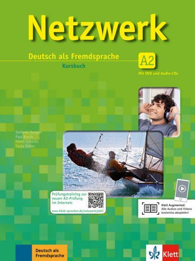 Netzwerk A2. Kursbuch mit 2 DVDs und 2 Audio-CDs