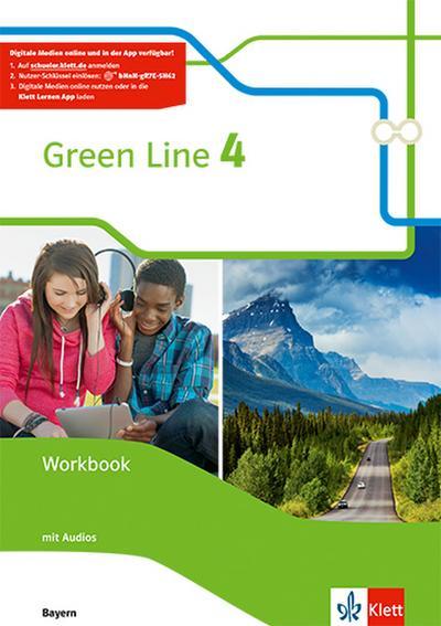 Green Line 4. Ausgabe Bayern: Workbook mit Audio-CDs 8. Klasse (Green Line. Ausgabe für Bayern ab 2017)