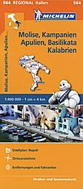 Michelin Regionalkarte Molise, Kampanien, Apu ...