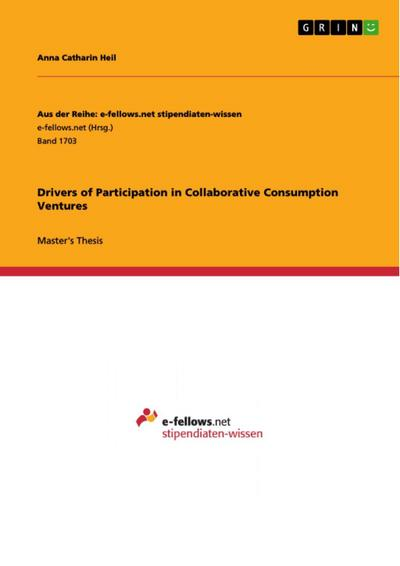 Drivers of Participation in Collaborative Consumption Ventures