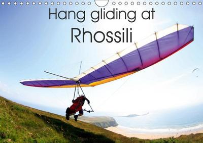 Hang gliding at Rhossili (Wall Calendar 2019 DIN A4 Landscape)