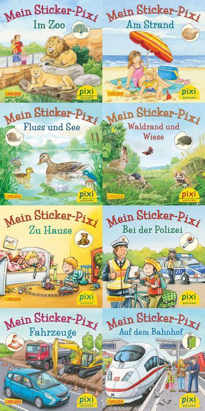 Pixis neue Sticker-Bücher (8x8 Exemplare)