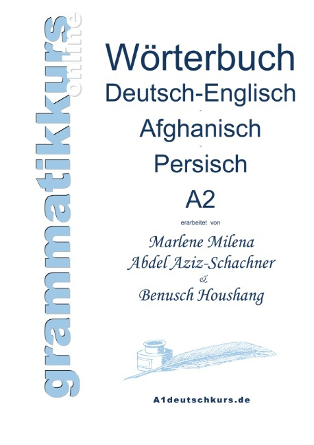Wörterbuch Deutsch-Englisch-Afghanisch-Persisch Niveau A2 ~  ... 9783732248377