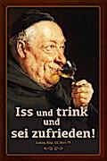 """Blechschild """"Iss und trink"""""""