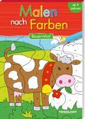 Malen nach Farben. Bauernhof; Malbücher und -blöcke; Ill. v. Schmidt, Sandra; Deutsch; Block schw.-w. Ill.