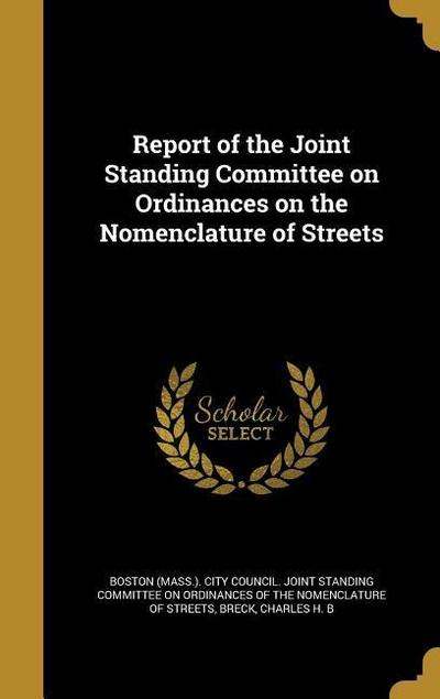 REPORT OF THE JOINT STANDING C