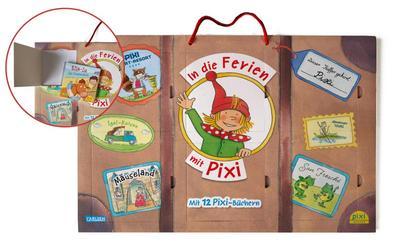 Pixis großer Reisekoffer mit 12 Pixi-Büchern