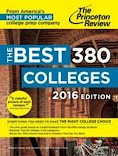 The Best 378 Colleges, 2016 Edition