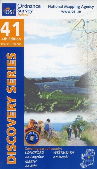 Irish Discovery Series 41. Longford, Meath, Westmeath 1 : 50 000
