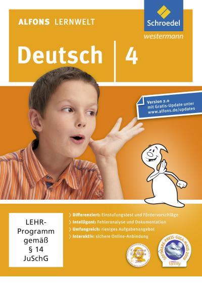 Alfons Lernwelt Lernsoftware Deutsch 4. DVR-ROM