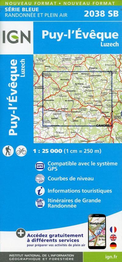 Puy-L'Evêque.Luzech 1:25 000