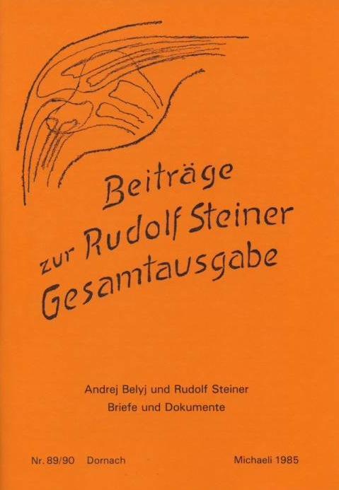 Beiträge zur Rudolf Steiner Gesamtausgabe, Heft 89/90