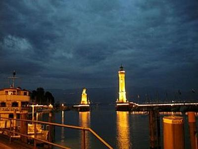 Leuchtturm Lindau bei Nacht - 500 Teile (Puzzle)