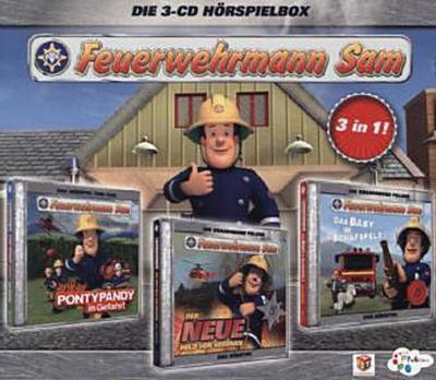 Feuerwehrmann Sam Hörspielbox. Box.1, 3 Audio-CDs