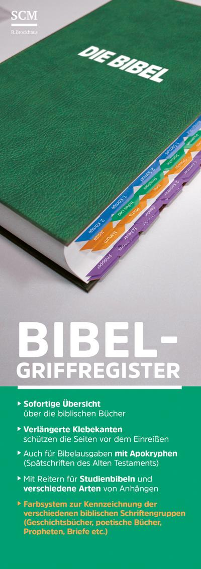 Bibel-Griffregister grün
