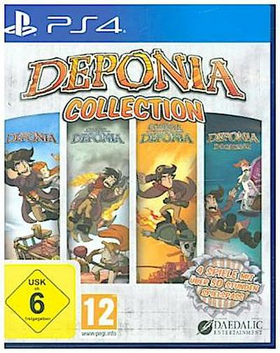 Deponia Collection, 1 PS4-Blu-ray Disc