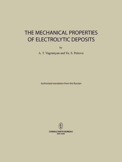 The Mechanical Properties of Electrolytic Deposits