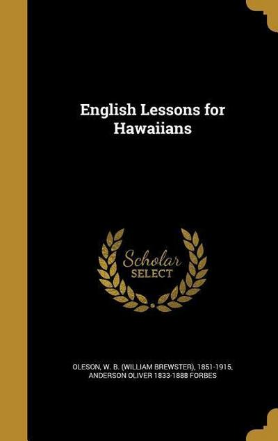 ENGLISH LESSONS FOR HAWAIIANS
