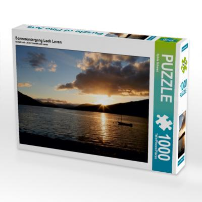 Sonnenuntergang Loch Leven (Puzzle)