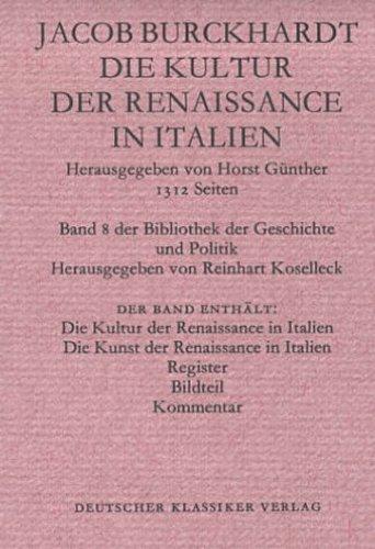 Jacob Burckhardt / Die Kultur der Renaissance in Italien /  9783618666851