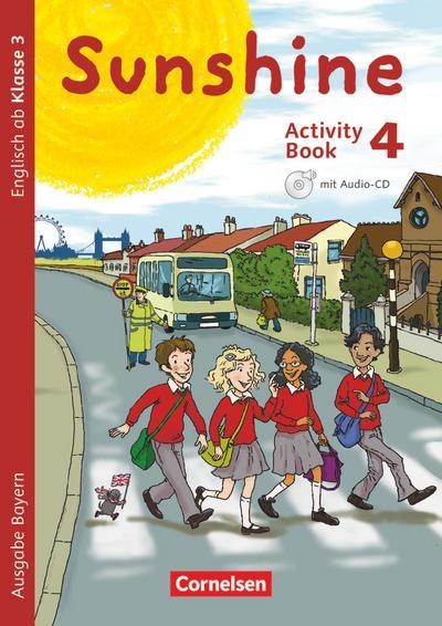 Sunshine 4. Jahrgangsstufe. Activity Book mit Audio-CD, Minibildkarten und Faltbox. Bayern