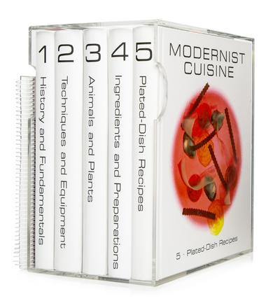 Modernist Cuisine, 5 Bände + spiralgebundenes wasserfestes