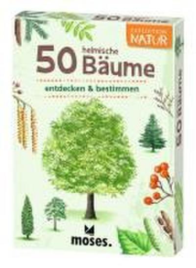 moses. Expedition Natur - 50 heimische Bäume   Bestimmungskarten im Set   Mit spannenden Quizfragen
