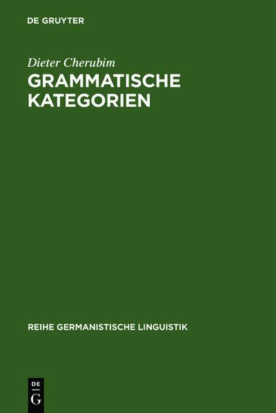 Grammatische Kategorien
