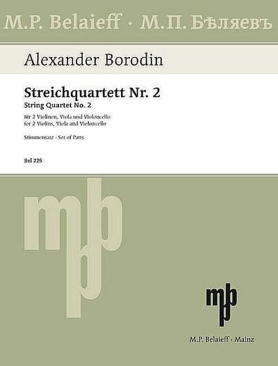 Streichquartett D-Dur Nr.2Stimmen