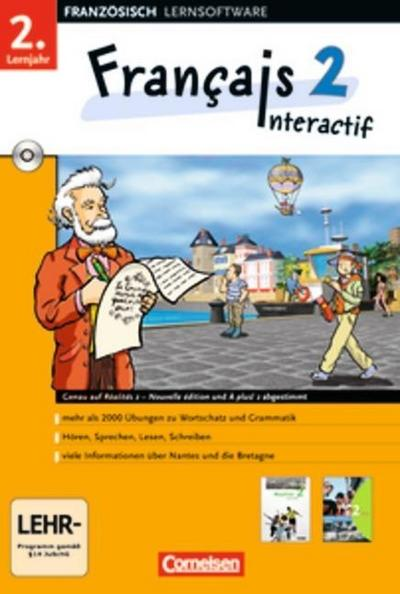 Francais 2 Interactif 2. Lernjahr. CD-ROM ab Win 98 SE