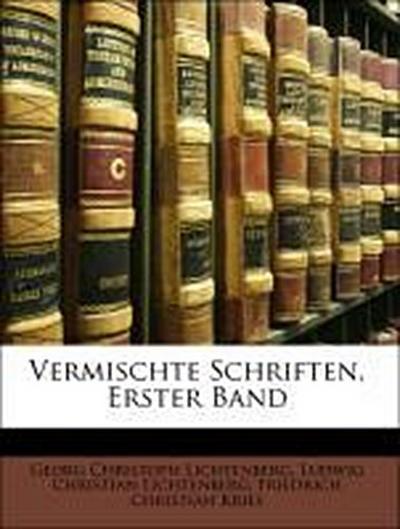 Lichtenberg, G: Vermischte Schriften, Erster Band
