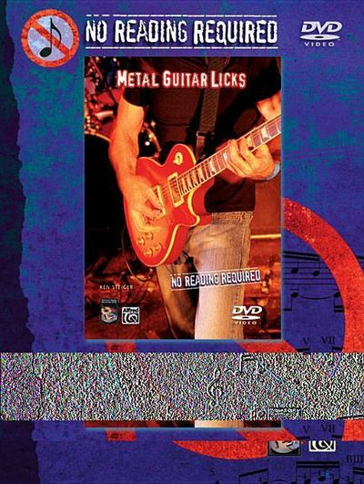 No Reading Required: Metal Guitar Licks, DVD