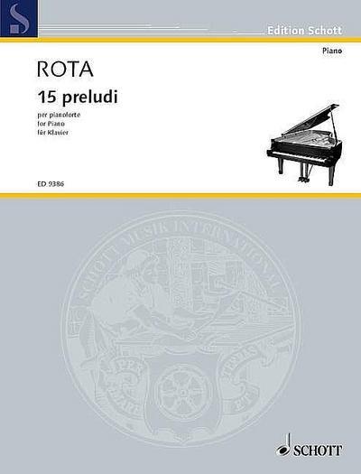 15 preludi für Klavier (1964)