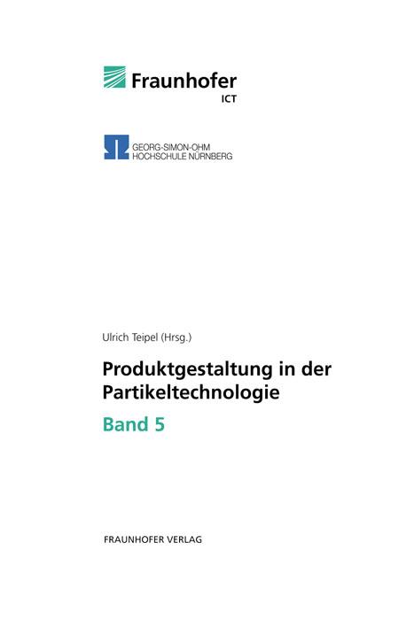 Ulrich Teipel / Produktgestaltung in der Partikeltechnologie ... 9783839602461