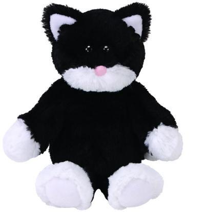 Bessie, Katze schwarz/weiß 20cm