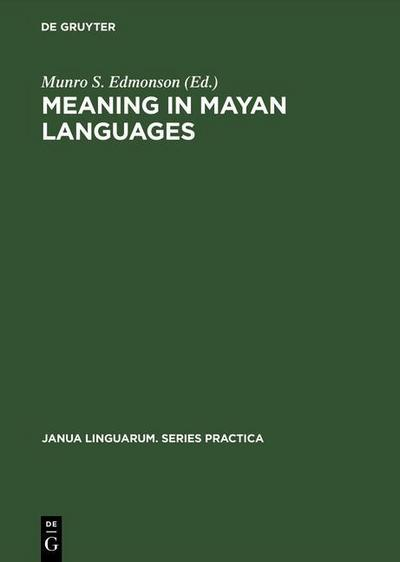 Meaning in Mayan Languages