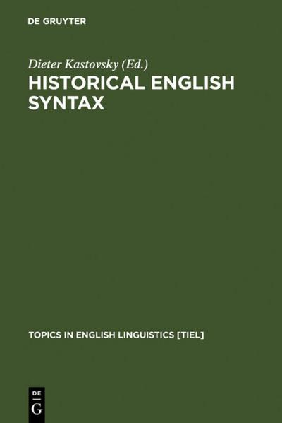 Historical English Syntax