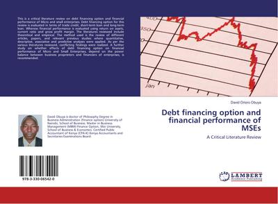 Debt financing option and financial performance of MSEs