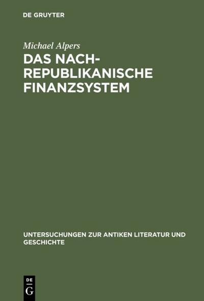 Das nachrepublikanische Finanzsystem