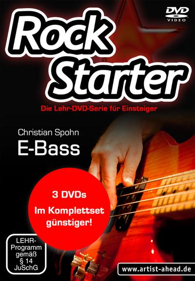 Rockstarter Vol. 1-3 - E-Bass (3 DVDs)