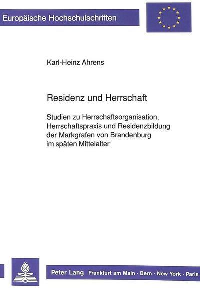 Residenz und Herrschaft