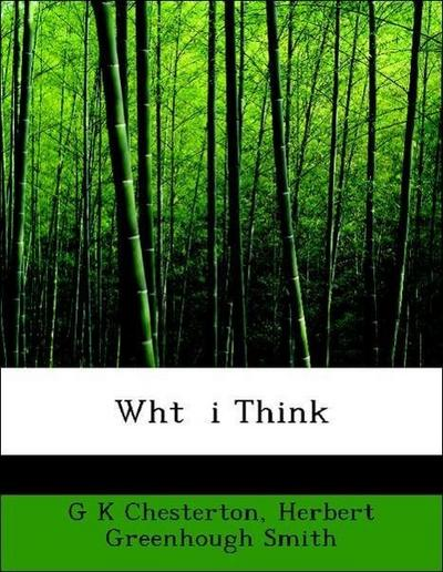 Wht  i Think